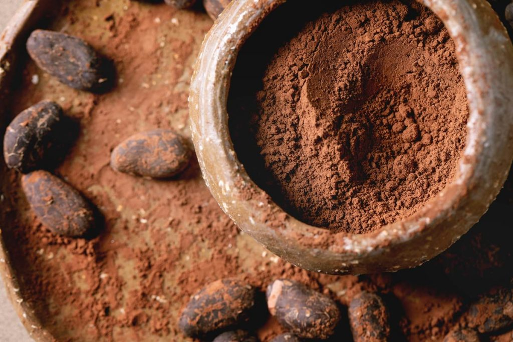 Cocoa powder in bowl
