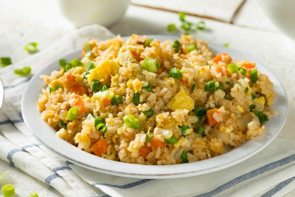 Homemade Vegetarian Fried Rice