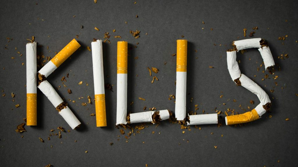 Smoking kills concept